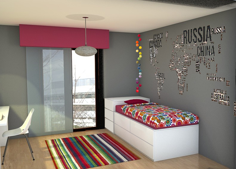 Dormitorio infantil ni a nuvart - Dormitorio infantil nina ...